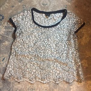Short sleeve Torid top lace size 0